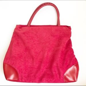 Red Purse Style Lunch Bag Tote